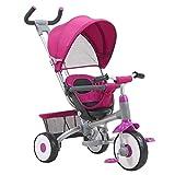 YETC Triciclo de niños Hijos multifuncionales Triciclo Bicicleta Cochecito de bebé Cochecito de 0-4 años de Edad (Color : Pink)