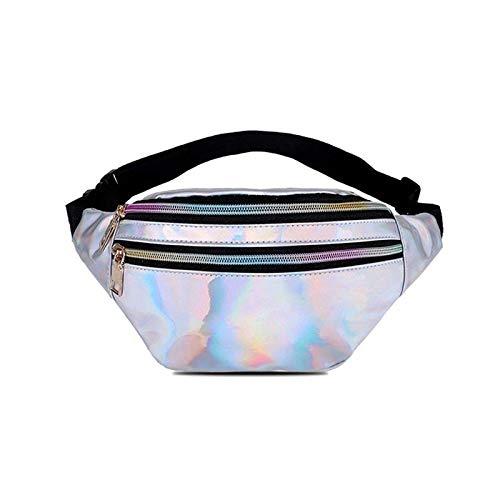 INCOOP Holographische Fanny Pack Frauen Silber Laser Bum Tasche Reise Shiny Taille Taschen Mode...
