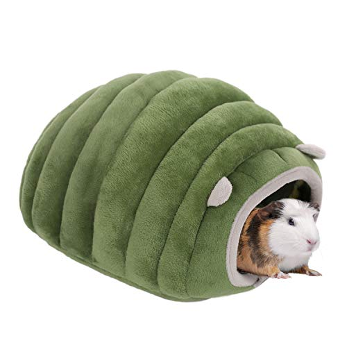 SAWMONG Hamster Guinea Pig Bed, Warm Cotton Hideout Bed Sleeping Bed House for Mini Hedgehog & Young Guinea Pig