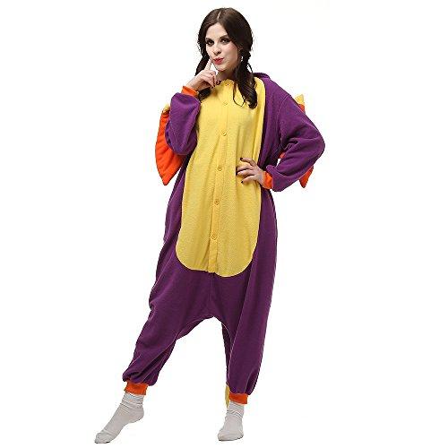 Pijamas Animales Mujer Disfraces de Cosplay para Adultos Pijama Enteros Dragon, M