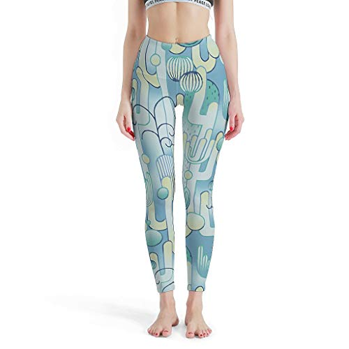 O5KFD & 8 dames patroon yoga leggings Classics High Waist cactus leggings dames - Cactus