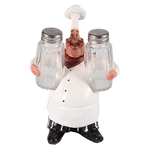 Mumusuki Chef de Resina Figuras Regalo Ornamento Estatua Modelo Artesanía Decoración Bar Cafetería Adornos para árboles de Navidad Regalo Juguete para niños(bs007e)