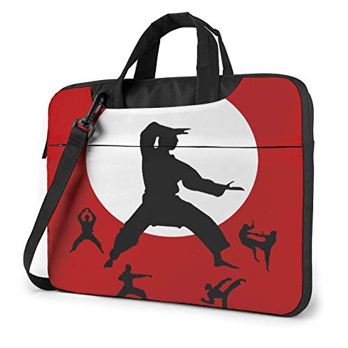 Laptop Messenger Laptop Bag Shoot for Moon Taekwondo Shoulder Bag Briefcase Office Laptop Sleeve Case Satchel Tablet for Men Women