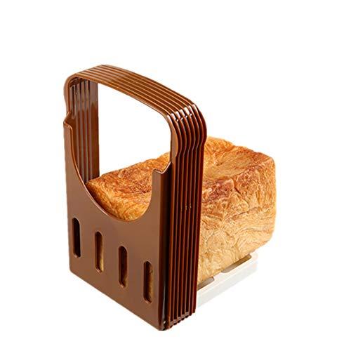 FADJIKKP Pliable Pain Slicer avec du Pain Crumb Collector, de qualité Alimentaire ABS Matériel, réglable Toast Slicing Outil, Peut être utilisé for Couper Le Pain, Toast
