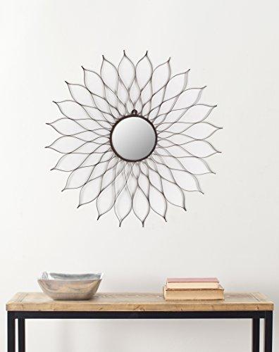 Safavieh Home Collection Antique Flower Mirror, Brown