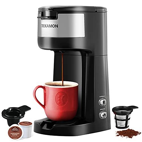 TEKAMON Single Serve K Mini Cup Pod Coffee Maker Brewer Machine, Self Cleaning, 6 to 14 Oz