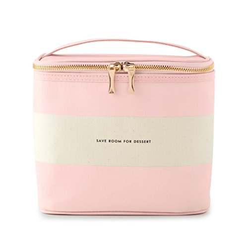 Kate Spade New York Women's Lunch Tote, (Out To Lunch), Blush Rugby Stripe, Pink Canvas
