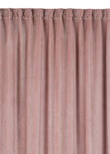 Linum Paolo Vorhang, baumwollesamt, Altrosa, 290 x 135 x 45 cm