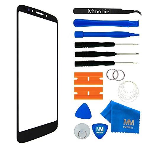 MMOBIEL Front Glas Reparatur Set kompatibel mit Motorola Moto E5 / E 5th Gen 5.7 Inch(Schwarz) Bildschirm mit Werkzeug-Set