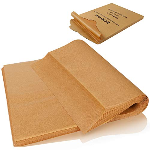 Kootek 160 Pcs Parchment Paper Sheets, 12 X 16 Inch Non-Stick Baking Sheet, Pre-cut Parchment Liner Unbleached Baker Papers for Grilling Air Fryer Steaming Cooking Bread Cake and Cookies