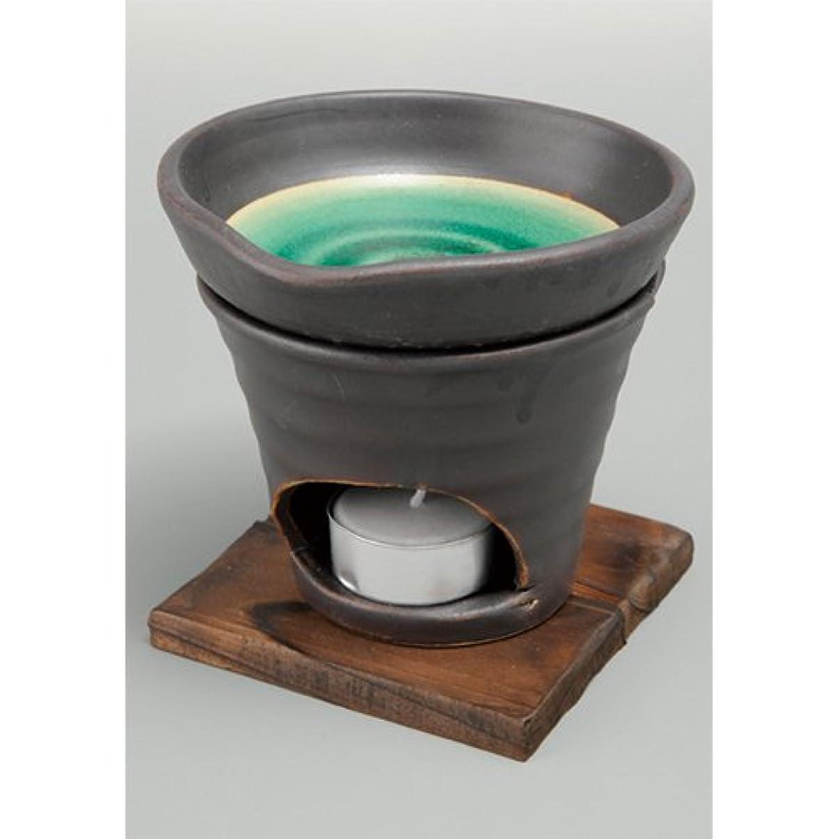 それから実験をする脈拍香炉 黒釉 茶香炉(緑) [R11.8xH11.5cm] HANDMADE プレゼント ギフト 和食器 かわいい インテリア