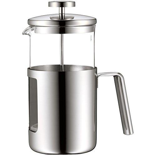 WMF Kult Coffeepress 1,0l, French Press, Kaffeebereiter für 6 Tassen, Glas, Cromargan Edelstahl mattiert, spülmaschinengeeignet