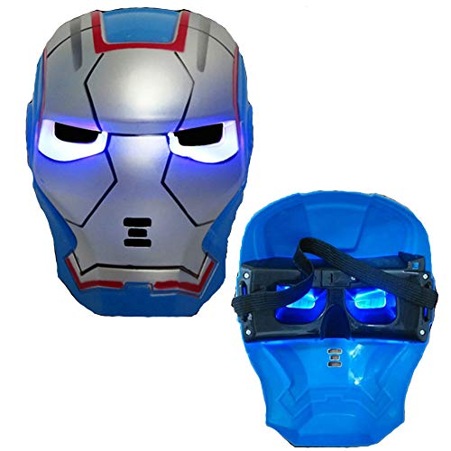 morningsilkwig Marvel Avengers Masker Iron Man Masker Gloeiende Kostuum Licht Eye Mask Super Hero Ironman Party Cosplay Masker voor Halloween Partijen (Light, S)