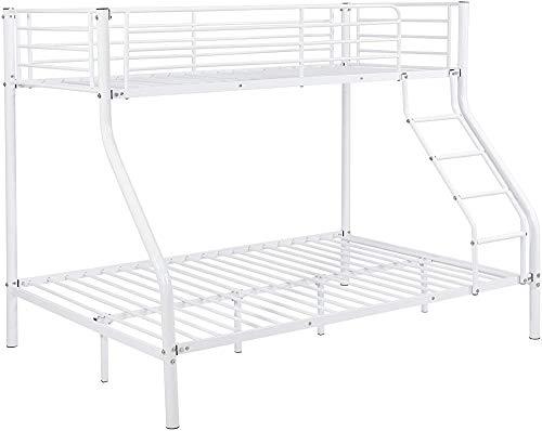 De metal camas de metal muebles de dormitorio marco de la cama litera 210cmx147,5cmx168cm,White