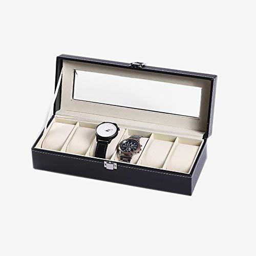 styleinside - Scatola per orologio da polso in pelle PU, organizer per gioielli in vetro