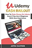 UDEMY CASH BAILOUT: How To Make Money On Udemy Even If You Are A Beginner With Zero Experience