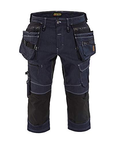 Blåkläder Piraten-Shorts Dehnbar-X1900 Marine-Blau / Schwarz GRÖSSE C56 / 50 in Cordura® Denim, optimaler Bewegungsraum