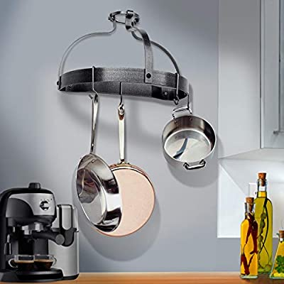 Enclume Premier Wall Crown Pot Rack, Hammered Steel from Enclume