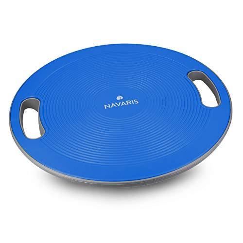 Navaris Plataforma de Equilibrio con Asas - Tabla para Ejercicios de coordinación - Disco para Entrenamiento de Fitness de Ø 40CM en Azul