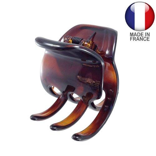 274-003 - Pince pour cheveux, fabrication française, 5 cm, couleur tortue
