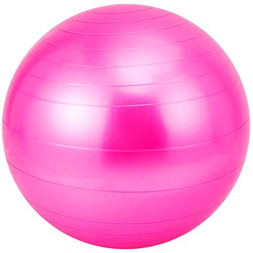 Bola de Yoga Bola de Yoga Fitness Gimnasia Bola sensorial Bola de Entrenamiento Integral, PVC Yoga Diámetro de la Bola 85cm,Rosado