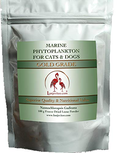 Lonjevitee Phytoplankton Gold Grade PLUS for Cats & Dogs with added fish oil. 100 g Pouch