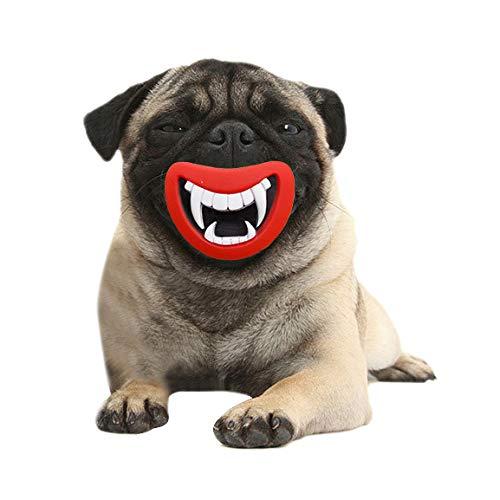 hj Schutzhalsband Hund Maulkorb verkaufen gut Haustier Spielzeug Halloween Zähne Haustier Sound Produktion Spielzeug Halloween Spielzeug geeignet für mittelgroße und große Hunde