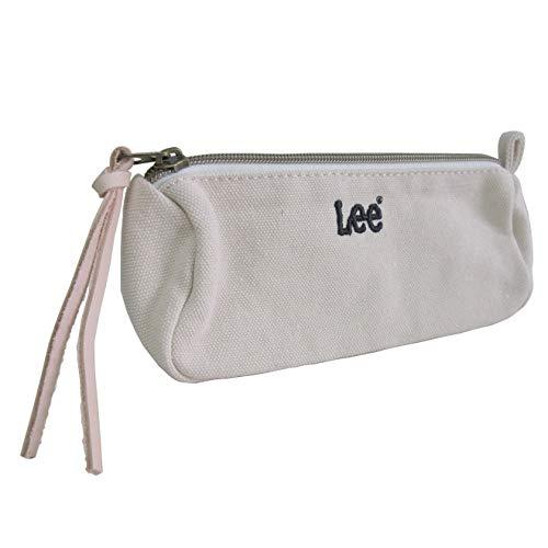[リー] Lee ペンポーチ ファスナー開閉 刺繍ロゴ パッチポケット コットン オフホワイト