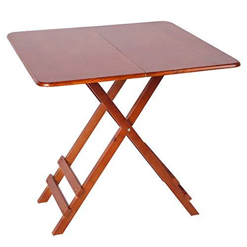 GOCF Mesa Plegable para El Hogar Mesa Cuadrada Mesa Plegable Ligero de la Tabla de Cuatro Patas (Color : Brown, Size : 70×70×60cm)