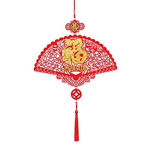 Forwei Chinesisches Jahr-Dekorationen, neues Jahr Fu-Charakter-gutes Glück, Dekorationen für chinesisches neues Jahr, chinesisches Frühlingsfest, Hochzeit, Laternen-Festival-Feier-Dekor