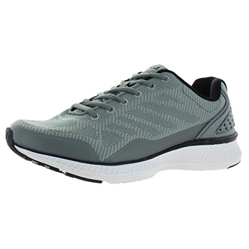 Fila Men's Memory Foam Athletic Running Shoes (12, Grey/Black)