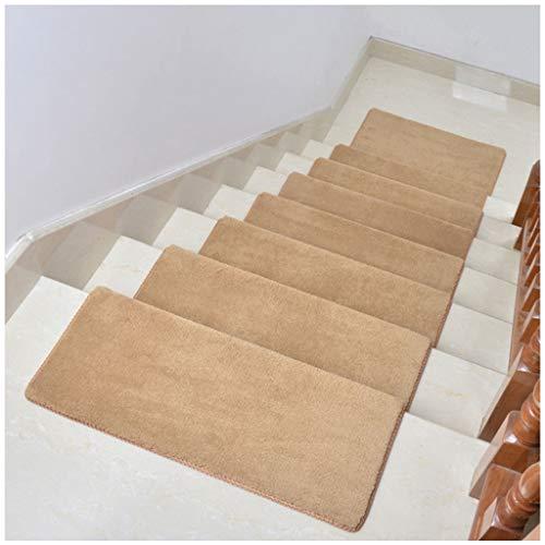 RUNWEI Treppen Anti-Rutsch-Teppich, Gummi Futter, Geeignet for Treppen, Küchen, Schlafzimmer, Türen, etc. In DREI Größen (Khaki, 10 Stück) (Size : 65X24cm)