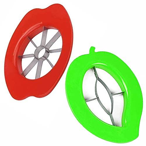 Lakkad International™ Premium Apple Cutter with Mango Cutter Slicer Set, Stainless Steel Blade and Non Slip Handles