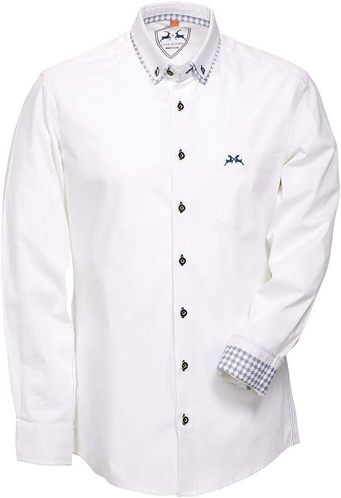 Maddox Samu - Camisa para hombre, color blanco: Amazon.es ...