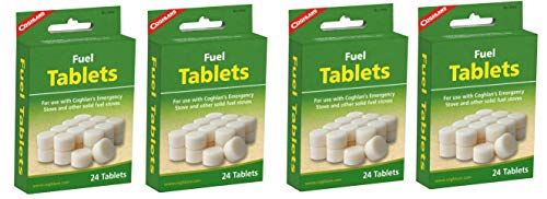 Coghlans Fuel Tablets Emergency Cooking Stove Solid Tablets Camping 4 Pack