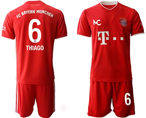 PHNG 20/21 20/21 Kinder Thiago 6# Fußball Trikot Heim Trikot und Shorts (Kinder Größe 4-13 Jahre) (24)