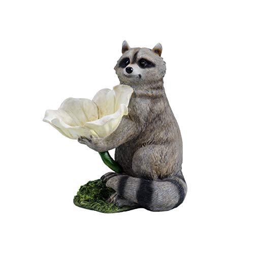GLYP Raccoon Bird Feeder, Resin Decoration, Garden Decoration/yard/garden Decoration