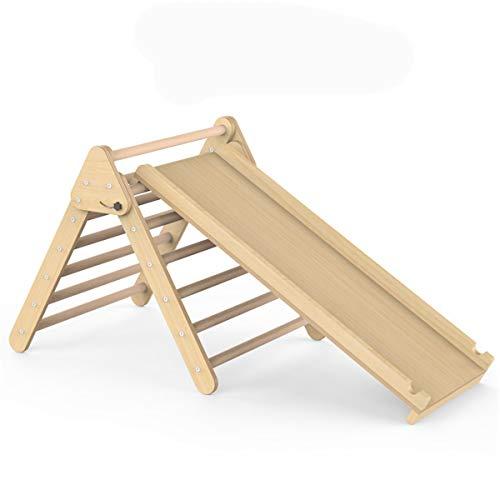 JHKGY Escalera Triangular De Madera Plegable,Escalador Triangular Plegable 2 En 1 para Niños Pequeños,para Deslizamiento Y Escalada, Marco De Escalador De Triángulo Estable,para Niños Pequeños