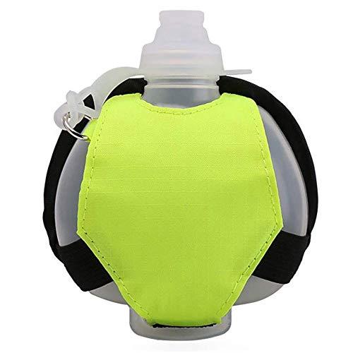 QPZM Botella De Agua para Correr Ajustable Tipo Muñeca, Mini Botella De Agua De Plástico Portátil Tipo Muñeca, Adecuada para Maratón, Ciclismo, Correr, Caminar Y Otras Actividades Al Aire Libre Verde