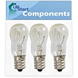 3-Pack WE05X20431 Dryer Light Bulb Replacement for General Electric DPVH890GJ0WW Dryer - Compatible with WE4M305 Dryer Drum Light Bulb