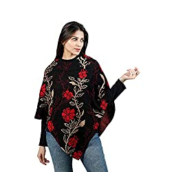 Woolly 2018 Latest Pullover Cardigan Womens Ponchoes Capes Sweater Tops #RS1015