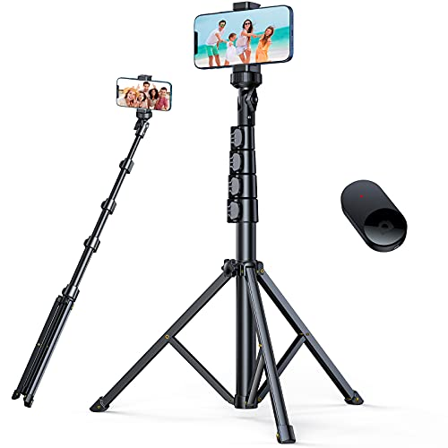 andobil 62'' All-in-One Tripod for iPhone with Bluetooth Remote, Extendable Phone Tripod Stand Fit for iPhone 13/13 Pro/13 Pro Max/12, All...