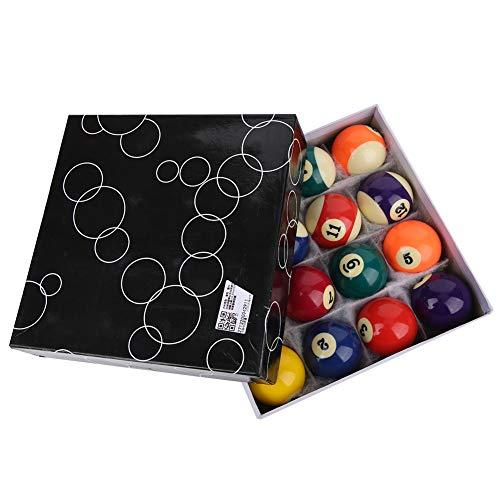 樹脂ビリヤードボールセット、コンプリートセット2.3inプロフェッショナル樹脂ビリヤードプールボールセットテーブル屋内スポーツ用アクセサリー