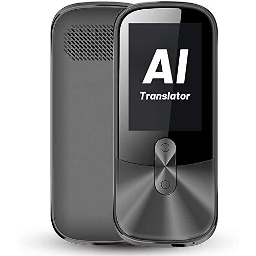 AOUVIK Dispositivo de traducción de Voz en Tiempo Real, admite 108 Idiomas Diferentes, Sistema de reconocimiento de reducción de Ruido Independiente Incorporado