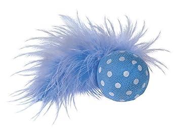 Nobby Balle Hochet avec Plume 4 cm