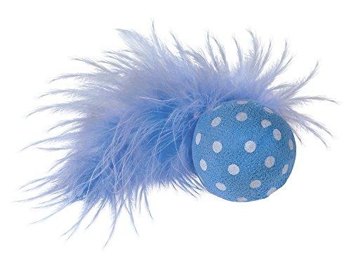 Nobby Ball mit Rassel, mit Feder 4 cm