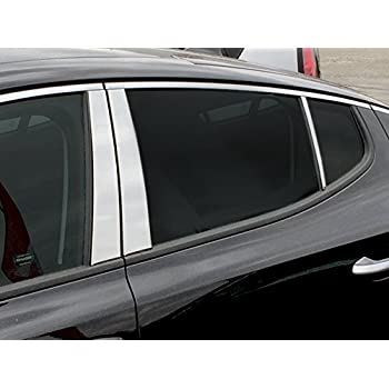 Stainless Window Pillar Post Cover Trim Molding Lid 6PCS For Kia Sportage 16-17