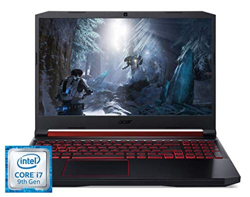 Acer Nitro 5 (AN515-54-73V1) 39,6 cm (15,6 Zoll Full-HD IPS 120 Hz matt) Gaming Laptop (Intel Core i7-9750H, 16 GB RAM, 1.000 GB PCIe SSD, NVIDIA GeForce GTX 1660Ti, Win 10 Home) schwarz/rot