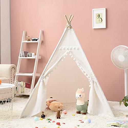 FCFLXJ Tienda de campaña desplegable para niños, plegable, para juegos en interiores y exteriores, casa pequeña, juguete de Navidad, regalo de cumpleaños para niños y niñas, color blanco, 100 cm