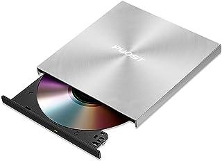 USB 3.0DVDドライブ 外付けポータブル DVD CD・再生・読取・書込 対応可能Window/Mac OS両対応 高速 静音 超スリム焼損防止 エラー校正日本語取扱一年保証書付き (厚さ1.3cm金属ボデイ銀)